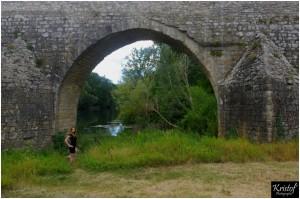 Pont Charles Martel et le Cèze (30)